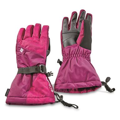 Columbia Women's Whirlibird Waterproof Insulated Gloves, Dark Raspberry Camo