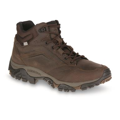 Merrell Men's Moab Adventure Waterproof Mid Hiking Boots, Dark Earth