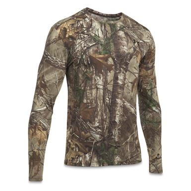 Under Armour Men's Early Season Long-Sleeve Tee, Black/Realtree AP Xtra