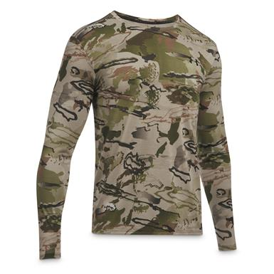 Under Armour Men's Early Season Long-Sleeve Tee, Barren Camo/Black