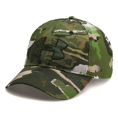 Under Armour Men's Camo BFL Cap, Forest/Artillery