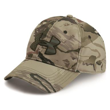 Under Armour Men's Camo BFL Cap, Barren/Maverick Brown
