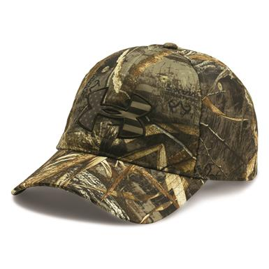 Under Armour Men's Camo BFL Cap, Realtree AP Xtra/Maverick Brown
