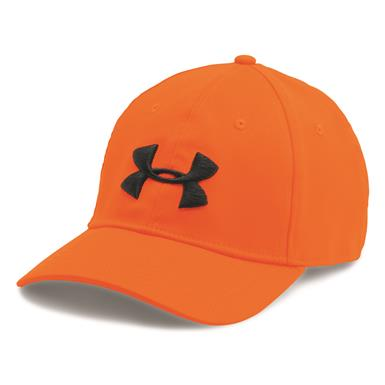Under Armour Men's Camo 2.0 Cap, Blaze Orange/Cannon