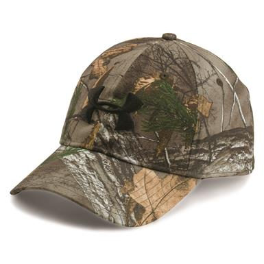 Under Armour Men's Camo 2.0 Cap, Realtree AP Xtra/Black