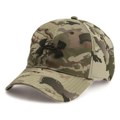 Under Armour Men's Camo 2.0 Cap, Barren/Black