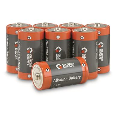 Guide Gear C-Cell Alkaline Batteries, 8 Pack