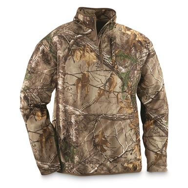 Guide Gear Men's Scent Control Quarter-Zip Pullover, Realtree Xtra