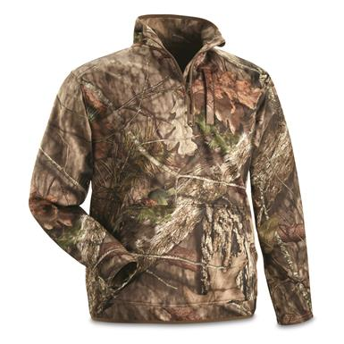 Guide Gear Men's Scent Control Quarter-Zip Pullover, Mossy Oak Break-Up Country