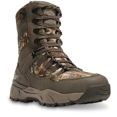 "Danner Men's 8"" Vital Waterproof Insulated Hunting Boots, 800 Gram, Realtree Xtra Camo, Realtree Xtra"