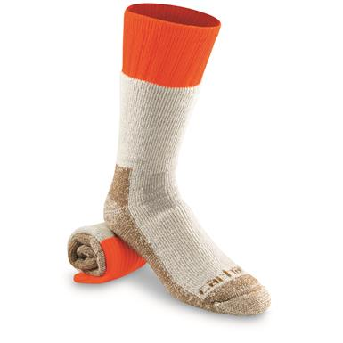 Carhartt Men's Cold Weather Boot Socks, Orange