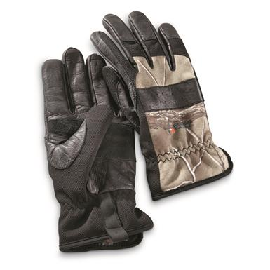 Guide Gear Men's Insulated Hunt/Work Gloves, Black/Realtree Xtra