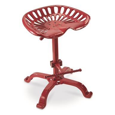 CASTLECREEK Oversized Tractor Seat Bar Stool, 500 lb. Capacity, Red