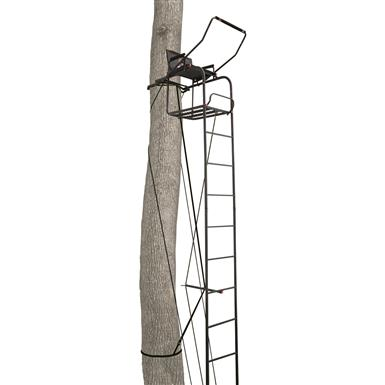 Primal Tree Stands 17' Single Vantage Deluxe Ladder Tree Stand With Jaw And Truss Stabilizer System