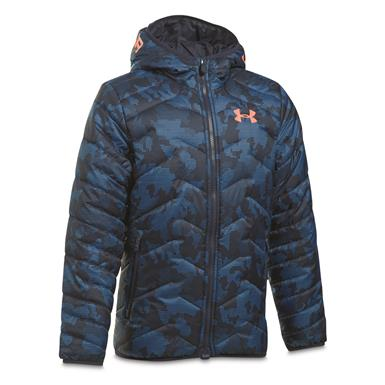 Under Armour Boys' ColdGear Reactor Insulated Hooded Jacket, Midnight Navy