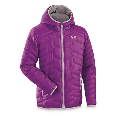 Under Amour Girls' ColdGear Reactor Insulated Hooded Jacket, Rave