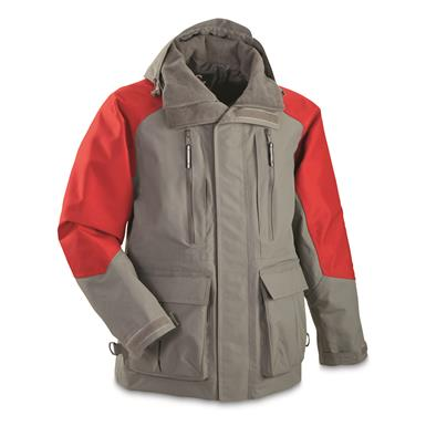 Guide Gear Men's Elements XT Parka, Dark Gray/Red