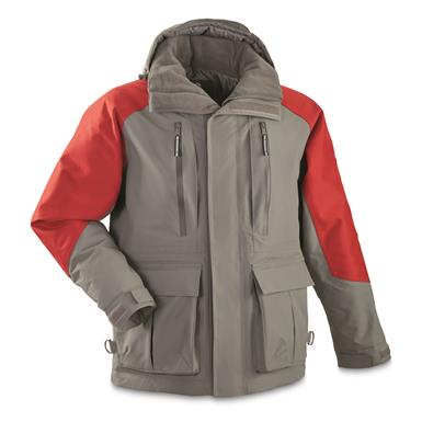 Guide Gear Men's Elements XT Insulated Parka, Dark Gray/Red