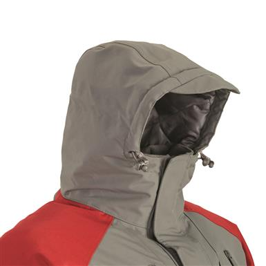 Structured, 3-pc. adjustable hood with visor, Dark Gray/Red