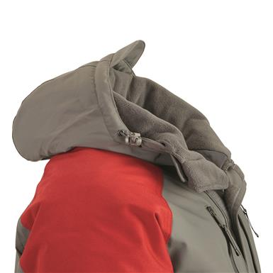 Fleece-lined collar, Dark Gray/Red