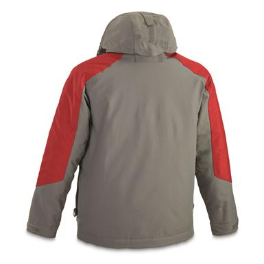 Back view, Dark Gray/Red