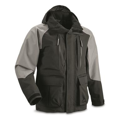Guide Gear Men's Elements XT Insulated Parka, Black/Gray