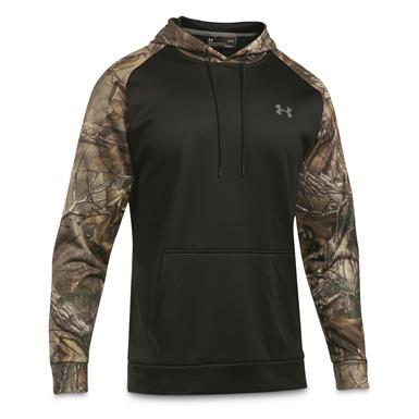 Under Armour Icon Camo Blocked Hoodie, Black/Realtree AP Xtra