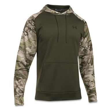 Under Armour Icon Camo Blocked Hoodie, Rifle Green/UA Barren Camo