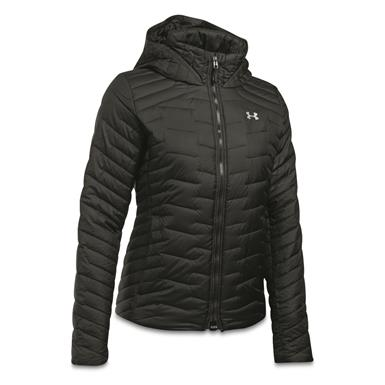 Under Armour Women's ColdGear Reactor Insulated Hooded Jacket, Black