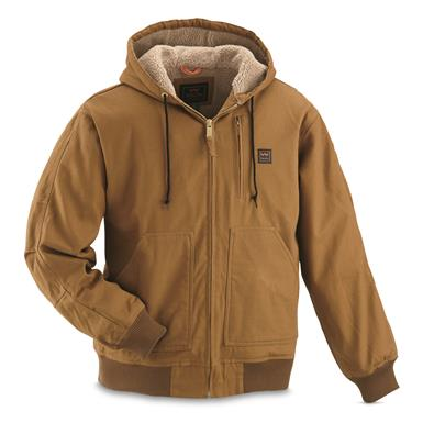 Walls Outdoor Goods Men's Insulated Muscle Back Jacket, Brown