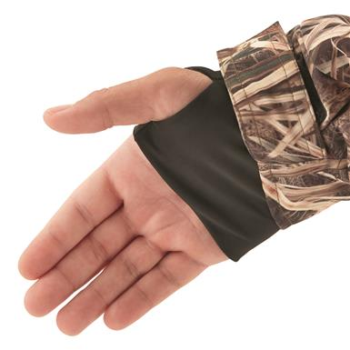 Thumbholes at wrists for added protection
