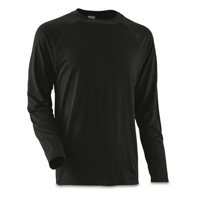 Guide Gear Men's Lightweight Base Layer Crew Top, Black