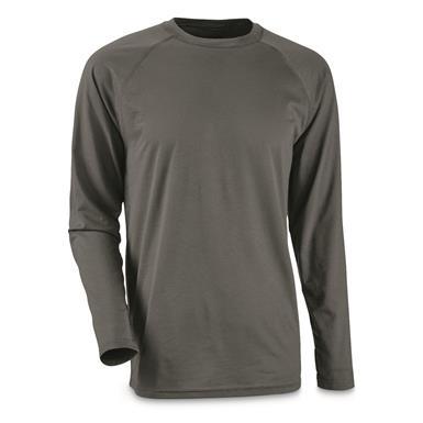Guide Gear Men's Lightweight Base Layer Crew Top, Gray