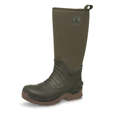 Kamik Huntsman Waterproof Insulated Rubber Hunting Boots, Olive Drab