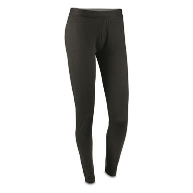 Guide Gear Women's Lightweight Base Layer Bottoms, Black