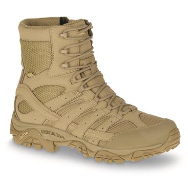 "Merrell Moab 2 Men's 8"" Waterproof Tactical Boots, Coyote"