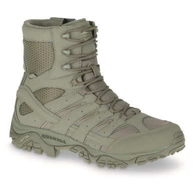 "Merrell Moab 2 Men's 8"" Waterproof Tactical Boots, Sage Green"