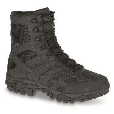 "Merrell Moab 2 Men's 8"" Waterproof Tactical Boots, Black"