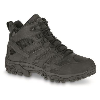 Merrell Moab 2 Men's Mid Waterproof Tactical Boots, Black