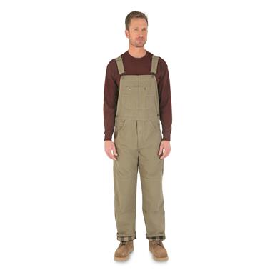 Wrangler RIGGS Workwear Ripstop Flannel Lined Bib Overalls