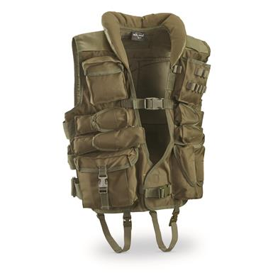 Mil-Tec Military-Style Tactical Vest, Olive Drab