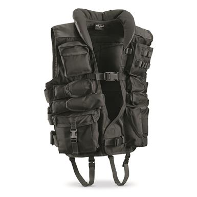Mil-Tec Military-Style Tactical Vest, Black