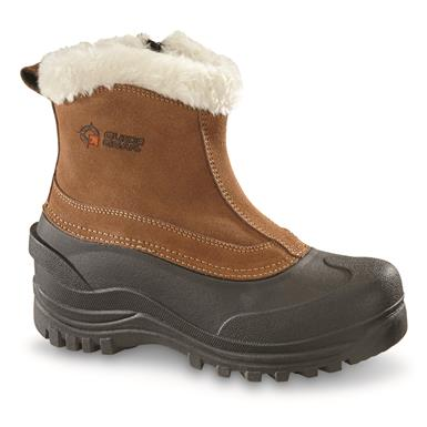 Guide Gear Women's Insulated Side Zip Winter Boots, 600 Gram, Brown