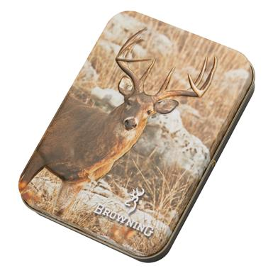 Majestic whitetail deer on gift tin