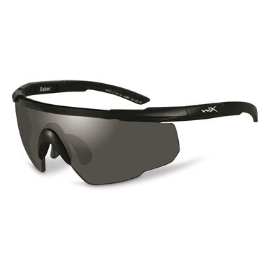 Wiley X Men's Saber Advanced 3 Lens Sunglasses, Matte Black