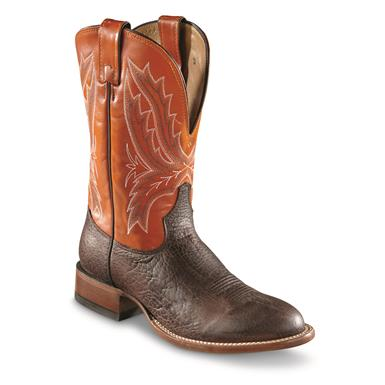 Tony Lama Men's Omaha Round Toe Western Boots, Brown