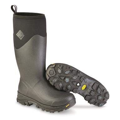 Muck Men's Arctic Ice Tall Rubber Boots, Black