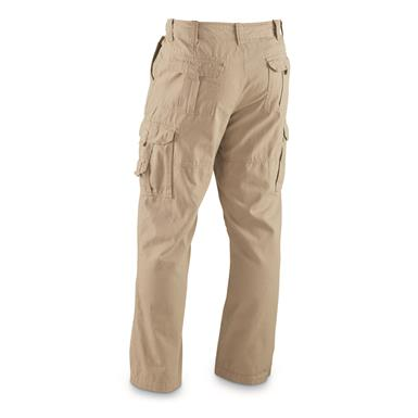Guide Gear Men's Flannel Lined Cargo Pants, Khaki back, Khaki