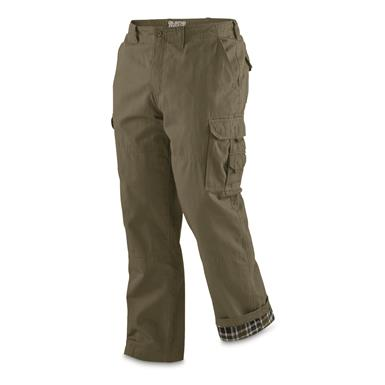 Guide Gear Men's Flannel Lined Cargo Pants, Olive