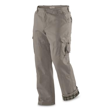 Guide Gear Men's Flannel Lined Cargo Pants, Gray